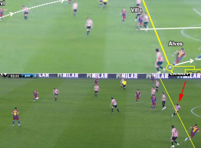 Barcelona-Athletic imágenes manipuladas