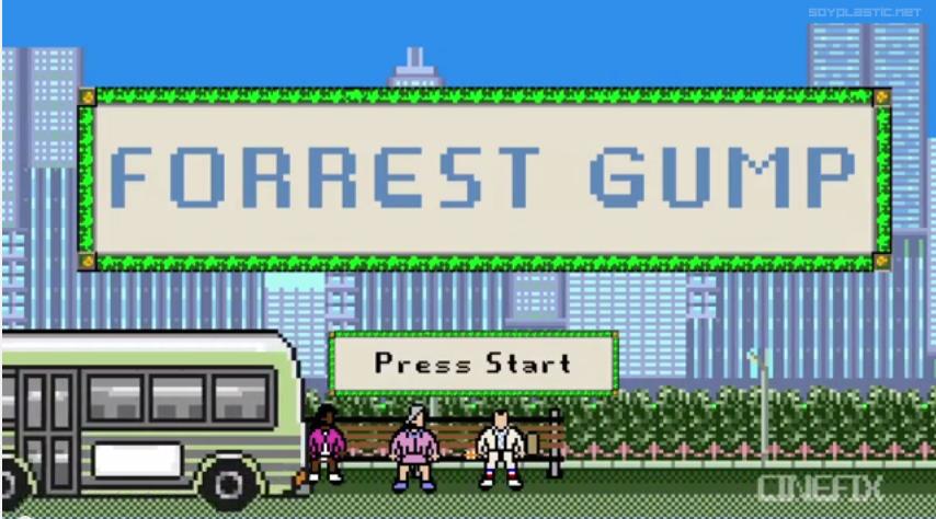 Forrest Gump como si fuera un videojuego de 8 bits (Flipante)