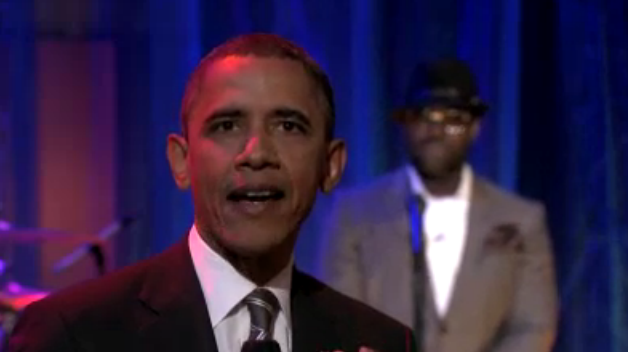 "Obama haciendo una ""Slow Jam"" en el programa de Jimmy Fallon"
